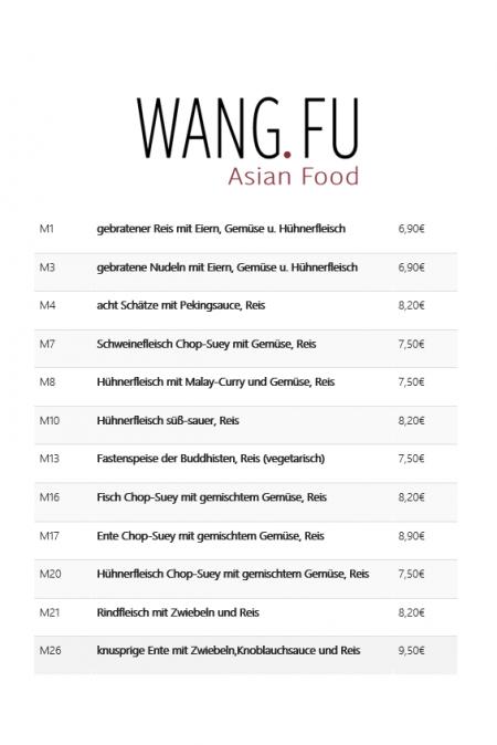Mittagsmenü – Wang Fu
